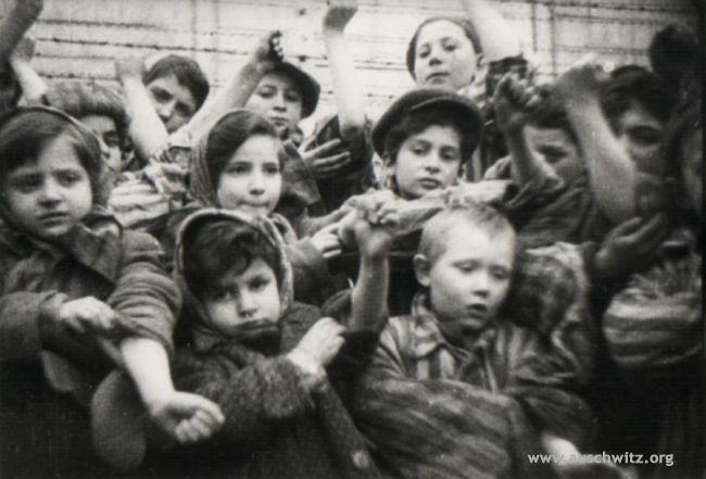 Bambini di Auschwitz - foto scattata dopo la liberazione